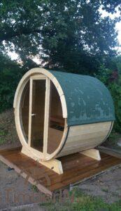 Outdoor barrel sauna mini small 2 4 persons 1