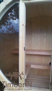 Outdoor barrel sauna mini small 2 4 persons 2