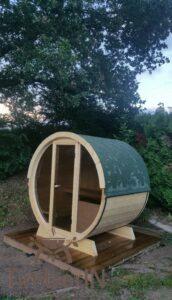 Outdoor barrel sauna mini small 2 4 persons 4