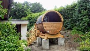 Small barrel sauna for 2 4 persons 1