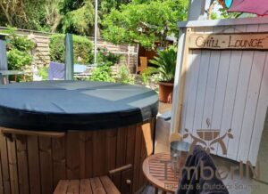 Wood burning heated hot tubs with jets – TimberIN Rojal 2