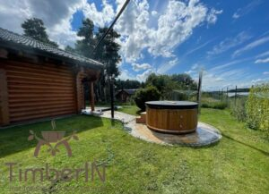 Wood burning heated hot tubs with jets – TimberIN Rojal 3