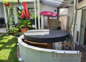 Wood burning heated hot tubs with jets – TimberIN Rojal 4