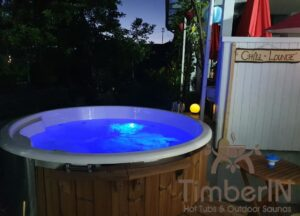 Wood burning heated hot tubs with jets – TimberIN Rojal 5