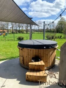 Wood fired hot tub with jets – TimberIN Rojal 1 1
