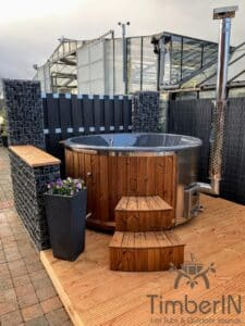 Wood fired hot tub with jets – TimberIN Rojal 1