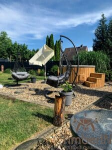 Wood fired hot tub with jets – TimberIN Rojal 1 3