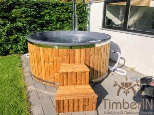 Wood fired hot tub with jets – TimberIN Rojal 1 4