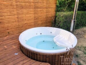 Wood fired hot tub with jets – TimberIN Rojal 1 5