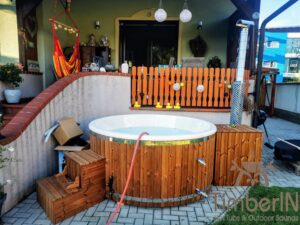Wood fired hot tub with jets – TimberIN Rojal 1 7