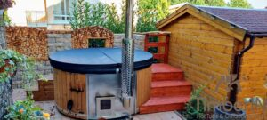 Wood fired hot tub with jets – TimberIN Rojal 1 8