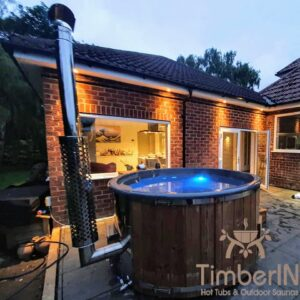 Wood fired hot tub with jets – TimberIN Rojal 1 9