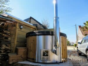Wood fired hot tub with jets – TimberIN Rojal 2