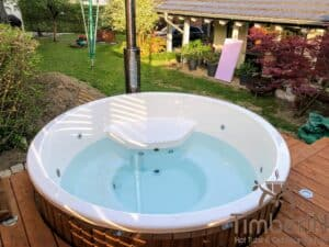 Wood fired hot tub with jets – TimberIN Rojal 2 4