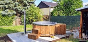 Wood fired hot tub with jets – TimberIN Rojal 2 5