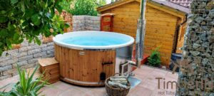 Wood fired hot tub with jets – TimberIN Rojal 2 7