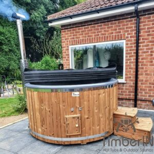 Wood fired hot tub with jets – TimberIN Rojal 2 8