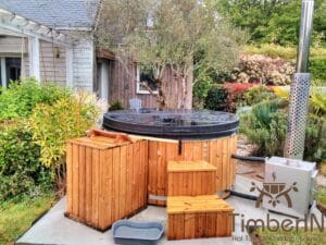 Wood fired hot tub with jets – TimberIN Rojal 3 1