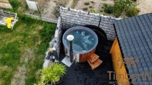 Wood fired hot tub with jets – TimberIN Rojal 3 2