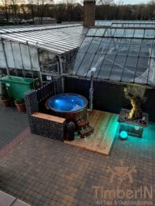 Wood fired hot tub with jets – TimberIN Rojal 3