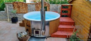 Wood fired hot tub with jets – TimberIN Rojal 3 7