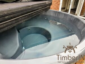 Wood fired hot tub with jets – TimberIN Rojal 3 8