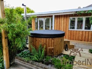 Wood fired hot tub with jets – TimberIN Rojal 4 1