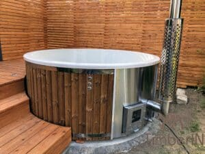 Wood fired hot tub with jets – TimberIN Rojal 4 2