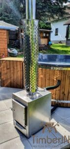 Wood fired hot tub with jets – TimberIN Rojal 4 3