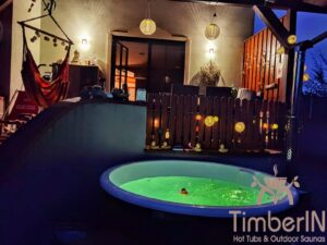 Wood fired hot tub with jets – TimberIN Rojal 4 4
