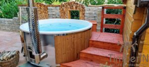 Wood fired hot tub with jets – TimberIN Rojal 4 5