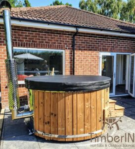 Wood fired hot tub with jets – TimberIN Rojal 4 6