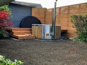 Wood fired hot tub with jets – TimberIN Rojal 5 1