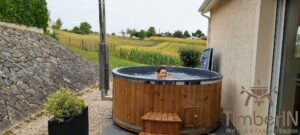 Wood fired hot tub with jets – TimberIN Rojal 5 3
