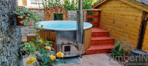 Wood fired hot tub with jets – TimberIN Rojal 5 4