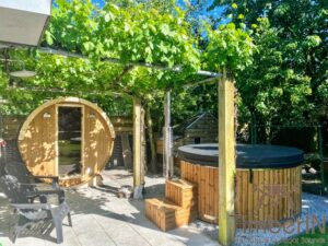 Wood fired hot tub with jets – TimberIN Rojal 6 1