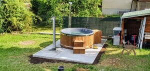 Wood fired hot tub with jets – TimberIN Rojal 6 2