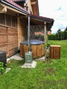 Wood fired hot tub with jets – TimberIN Rojal 6