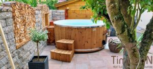 Wood fired hot tub with jets – TimberIN Rojal 6 3