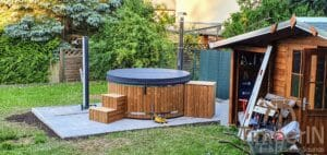 Wood fired hot tub with jets – TimberIN Rojal 7 1