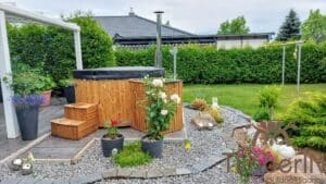 Wood fired hot tub with jets – TimberIN Rojal 8