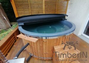 Wood fired hot tub with jets TimberIN Rojal 1