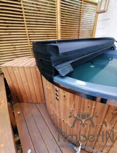Wood fired hot tub with jets TimberIN Rojal 2