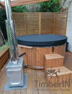 Wood fired hot tub with jets TimberIN Rojal 3