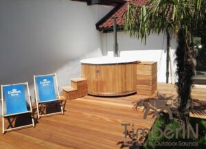 Wood fired hot tub with jets TimberIN Rojal
