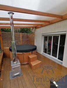 Wood fired hot tub with jets TimberIN Rojal 4