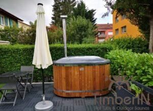 2 person wooden hot tub fiberglass 2