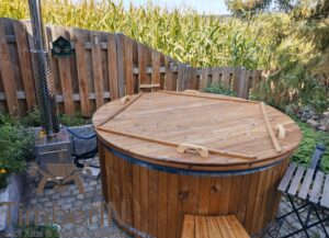6 – 8 person outdoor hot tub with external heater 1 2