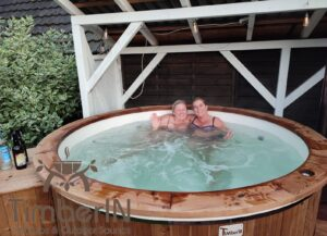 6 – 8 person outdoor hot tub with external heater 1 3