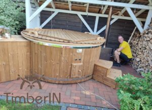 6 – 8 person outdoor hot tub with external heater 2 3